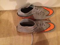 Orange and grey hyper venoms sock boots