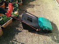 QUALCAST ELAN 32 LAWNMOWER WITH GRASS BOX EX COND