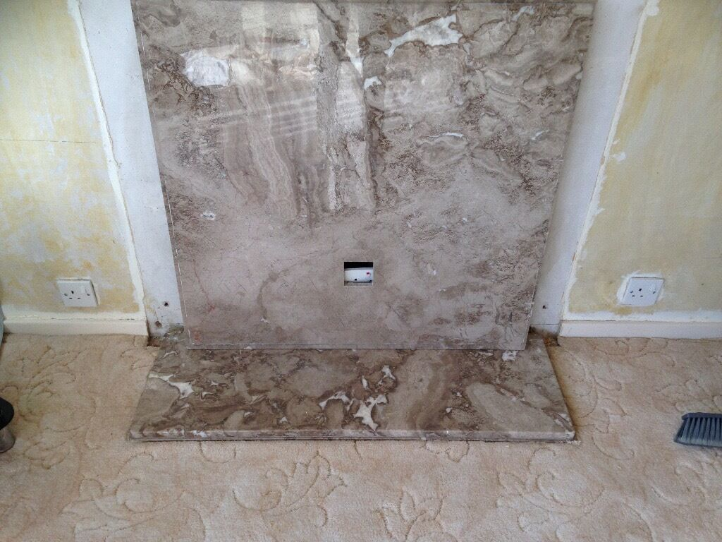 Marble Fireplace Back and Hearth