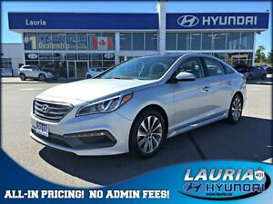 2015 Hyundai Sonata Sport  -  Panoramic sunroof / Backup camera
