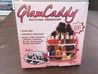 FREE DELIVERY NEW VERSATILE ROTATING GLAM BEAUTY CADDY COSMETIC ORGANIZER MAKE UP BOX HOLDER RRP £30