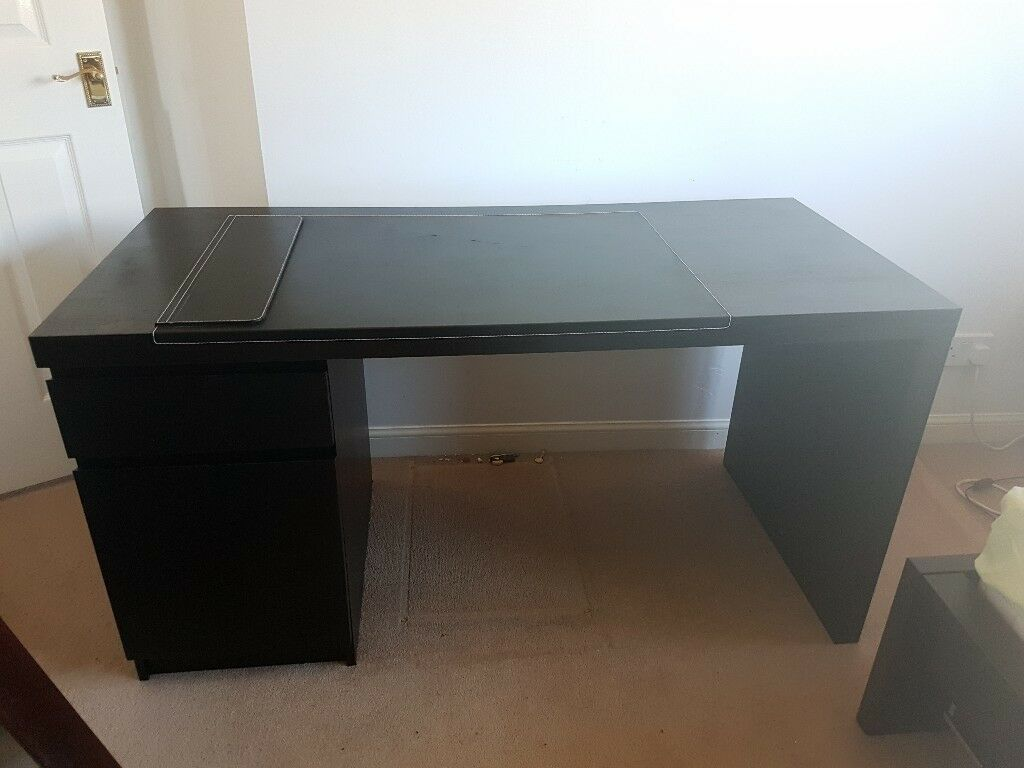 Ikea Malm Desk With Rissla Desk Pad In Bishopbriggs Glasgow Gumtree