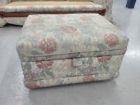 Mint condition floral footstool stool ottoman with storage part of a suit / free delivery