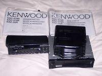 Kenwood 10-disc Car CD player (flip front face & ten disc boot changer) inc manuals. Excellent cond.
