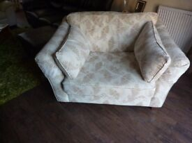 LOVE SEAT/ LARGE ARMCHAIR, MARKS AND SPENCER, IMMACULATE, 2 YEARS OLD. (WITH LOOSE ARM PROTECTORS)