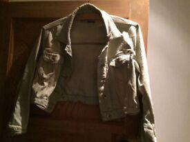 Topshop short denim jacket size 12