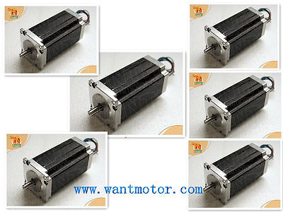 Ship From Usa And Free Ship6pcs Wantai Nema23 Stepper Motor 425oz-in Dual Shaft