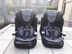 Two car seats, suit child > 15 kg