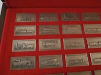 Franklin Mint Pewter collection of 50 Great British Locomotives with 2 Railway Anniversary FDCs.