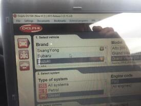 Car Diagnostics laptop