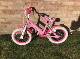 "Pink Hello kitty 14"" children's bicycle bike"