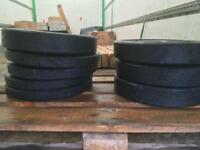 10kg 20kg rubber weight plates barbell