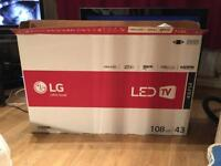 """BRAND NEW BOXED 43"""" LG LED TV CAN DELIVER"""