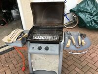 Gas Barbeque set, including gas bottle