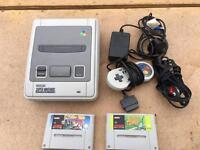 SUPER NINTENDO CONSOLE console complete with games - £59