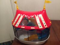 Circus tent hamster cage