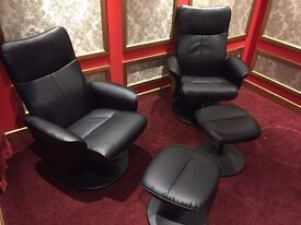 New... Reclining TV Armchair with foot stool ...2 available £60 each. £100 the pair
