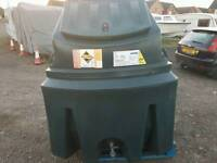 Bunded 1350 litre oil tank or diesel bio fuel storage