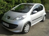 2007 PEUGEOT 107 1.0 12V URBAN 3DR SERVICES HISTORY 12 MONTH MOT WARRANTY AND FINANCE AVAILABLE