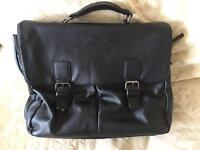 Quality soft leather M&S multi compartment satchel