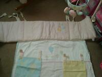 Unused mothercare cotbed set