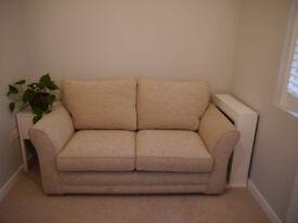 Debenhams Broadway 2 Seater Sofa Bed Cream/Light Beige RRP £1600