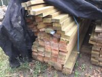 Timber 95lengths Of 125mm x 50 mm x 4.2 metres long