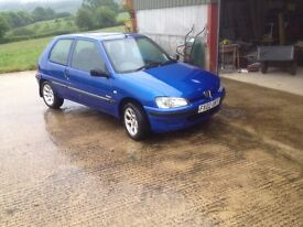Peugeot 106 2002 tidy bodywork for year regularly used.
