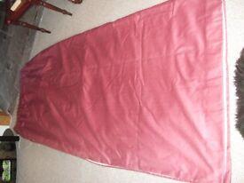 Pair Dusky Pink Curtains