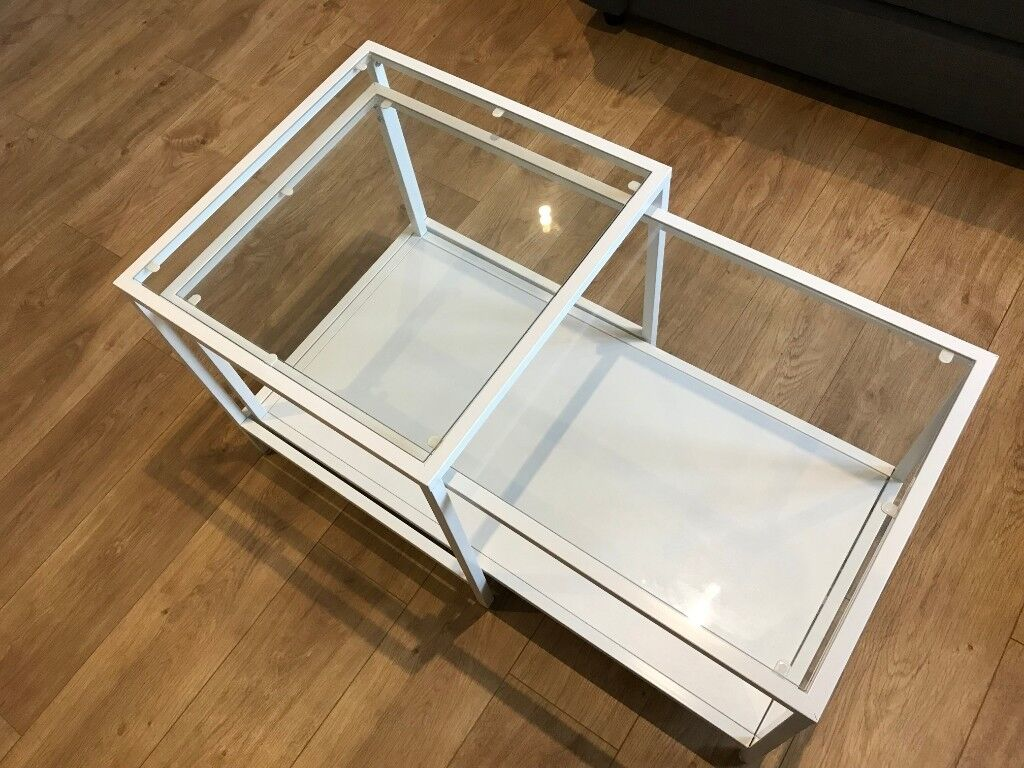 White Coffee Tables Nest Of 2