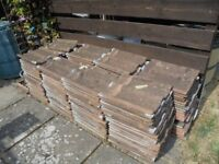 Double Roman roof tiles, used