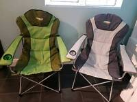 Pair of camping chairs