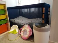 Brand New Baby Cot with mattress, duvet cover and pillow plus many more items