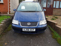 vw sharan 1.9 tdi 115,Date of first registration 2006,Automatic TransmissionMOT ALL YEAR TO 10/2017,