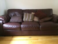 3 and 2 seat Italian Leather Sofas