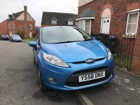 Blue Ford Fiesta. titanium, 2 Owner from New, 2 set of remote key, alloys ,mp3 CD player with aux
