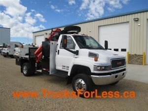 2007 gmc C5500 4X4, PICKER + SERVICE DECK + COMPRESSOR!!!