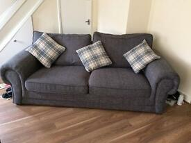 3 seater sofa and single chair.