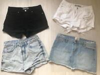 4 x Size 8 shorts and skirt Topshop / River Island