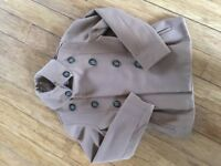 NEXT GIRLS WOOLEN WINTER COAT/PEACOAT AGE 11-12 Yrs CAMEL COLOUR