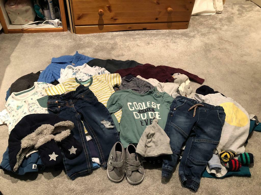 Baby Boy 9 12 Month Clothing Bundle 40 Items In Whiteley