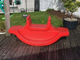Childs Seesaw / Rocker in Good Condition Suitable for Indoor and Out Door Use