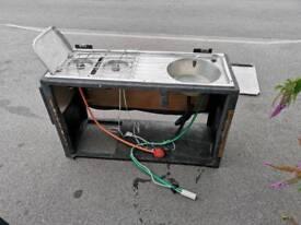 Camper cooker sink
