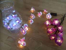 Orchid fairy lights beautiful as home decor or for parties, weddings
