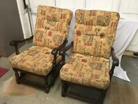 VINTAGE 'ERCOL' FIRESIDE CHAIRS X 2