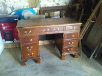 Antique desk, ivory wool rugs and modern trendy cloth wardrobe for sale