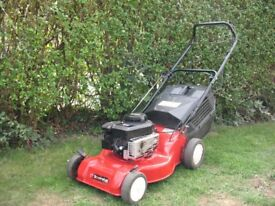 sovereign self propelled petrol mower 18 inch cut power drive lawn mower