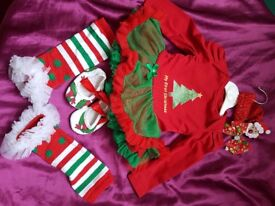 Baby girls Christmas outfit 3-6