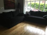 Matching Pair of Ikea Farlov 2 seater sofas. Dark Grey only 3 months old