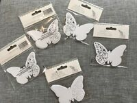 50 butterfly place settings on shimmer card